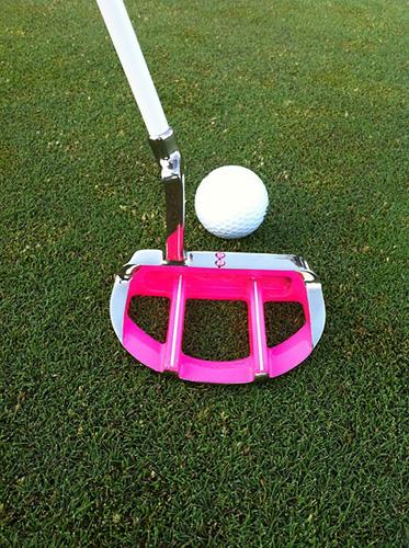golf club on puting green